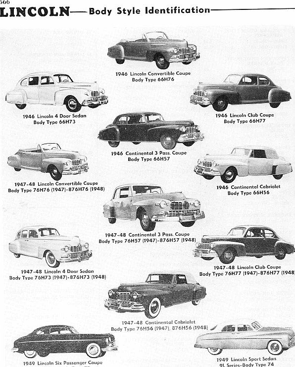 identifying 1946 to 1953 lincoln automobiles