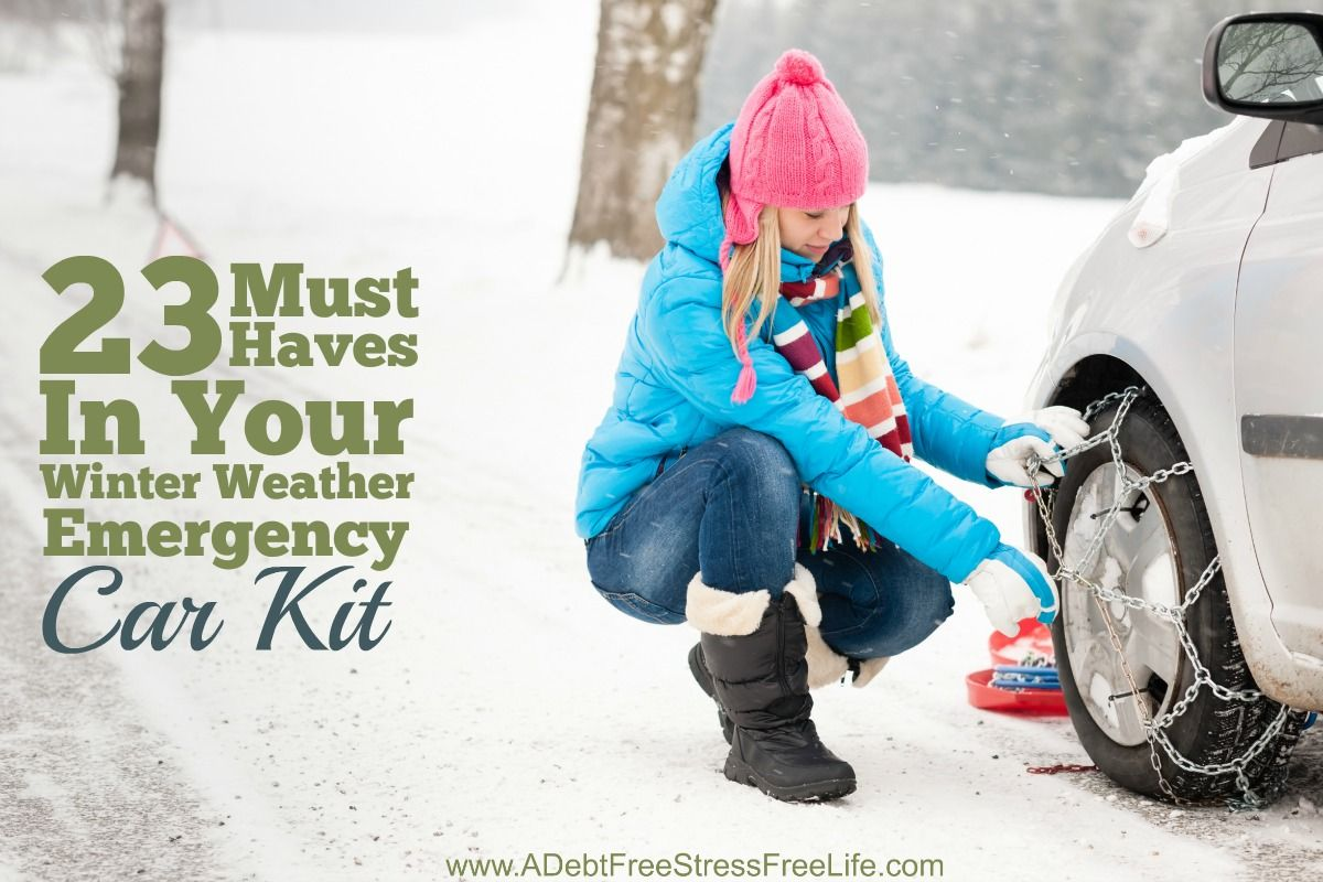 The thought of being stranded in the middle of no where sends shivers up my spine. That's why I always have my winter emergency car kit in my vehicle. There's 23 must have items that should be included in any kit to ensure your safety and survival.