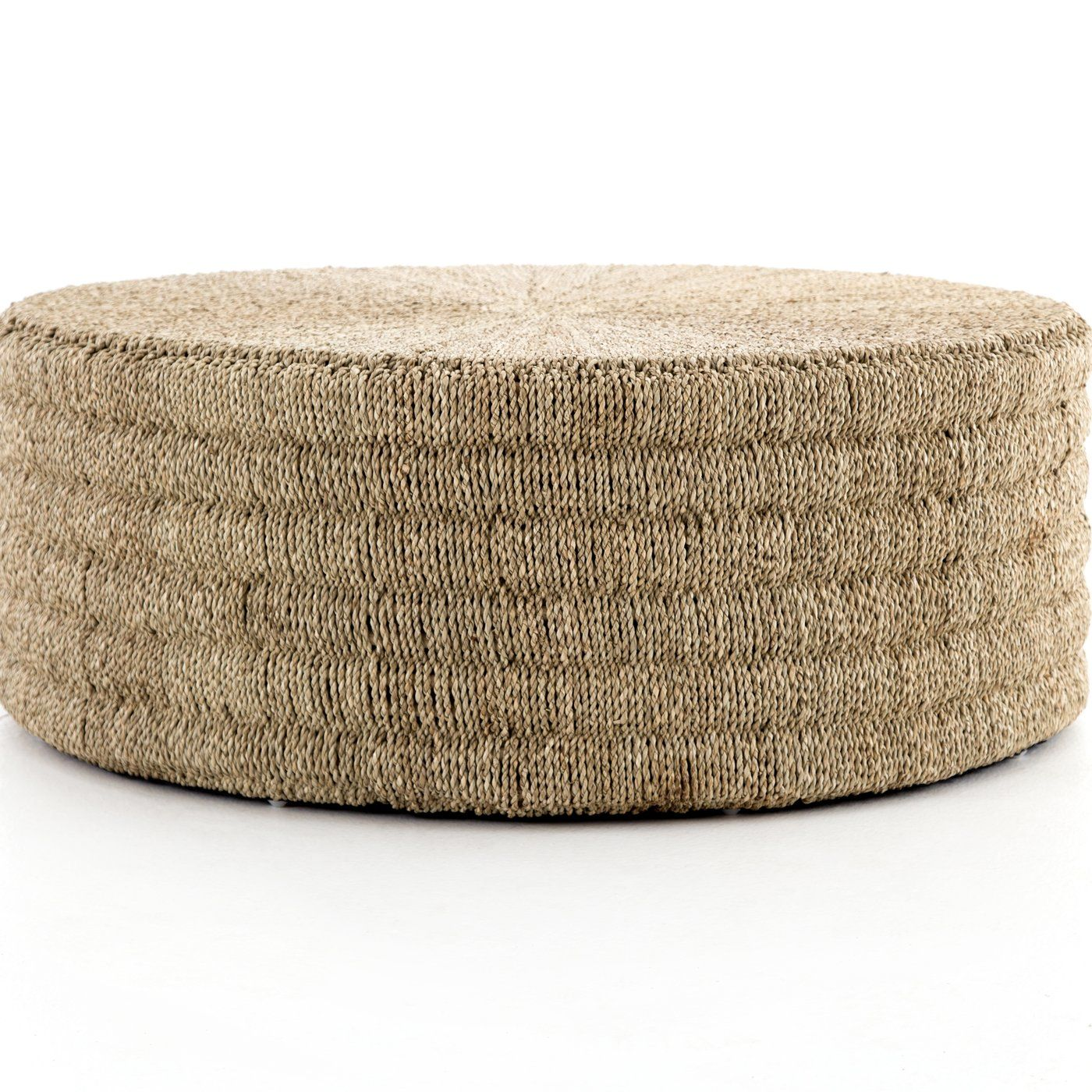 Pascal Woven Round Coffee Table Ottoman In 2020 Coffee Table Wood Round Coffee Table Reclaimed Wood Coffee Table [ 1000 x 1000 Pixel ]