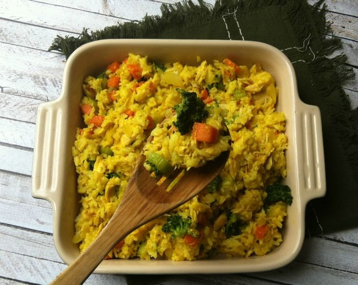 Curried Chicken and Rice Casserole: a comforting casserole that is easy to put together on a busy night // A Cedar Spoon