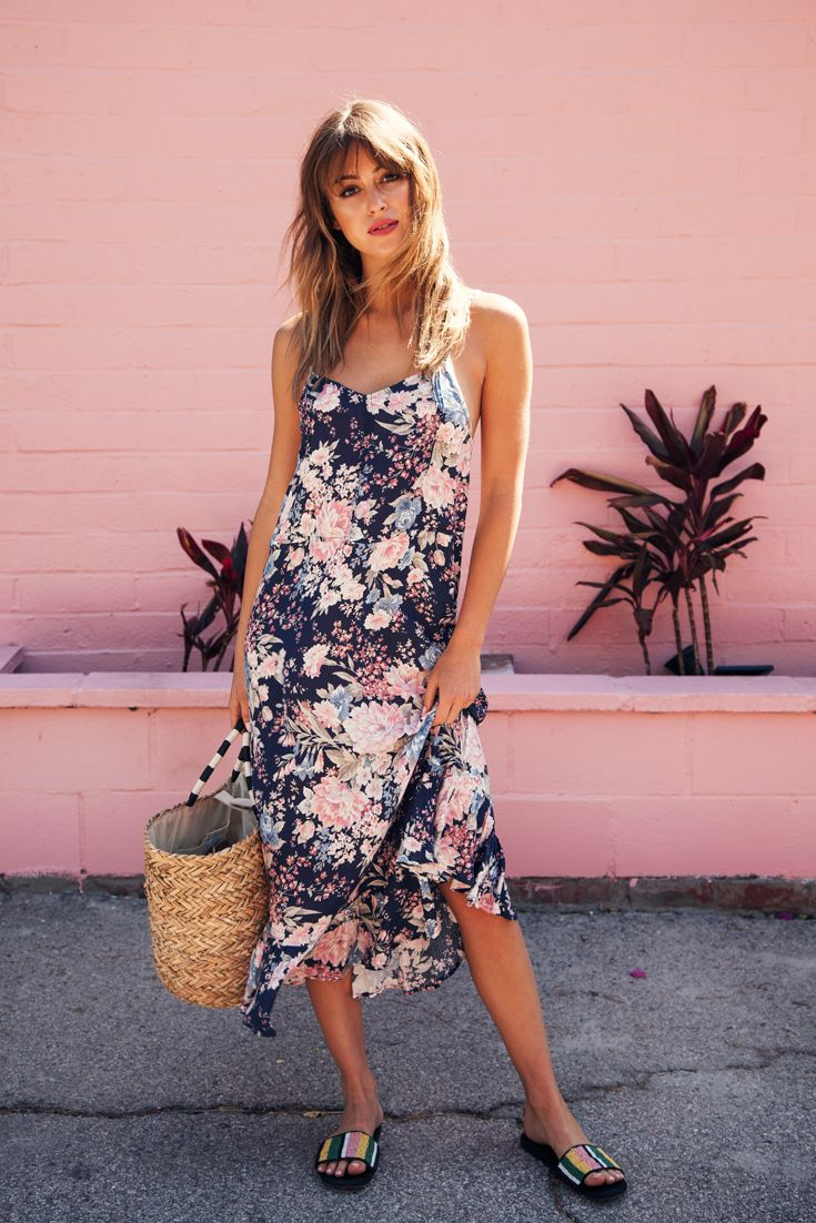 Auguste Alice Slip Dress Francis Floral Navy Blue Slip Dress Dresses Fashion Photoshoot [ 1102 x 735 Pixel ]