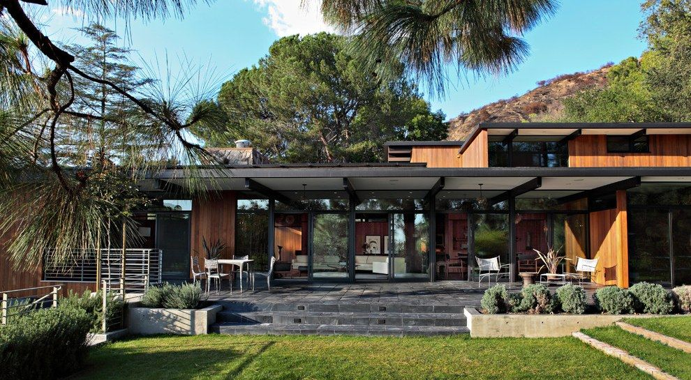 Le luxe l am ricaine pour cette maison contemporaine for Maison californienne plan