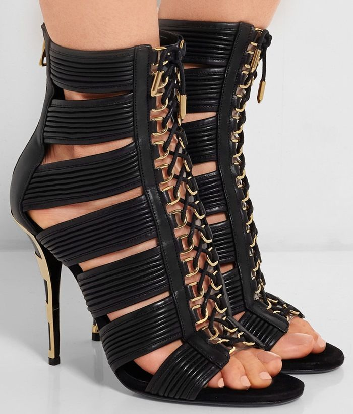 Balmain Leather Heels dbObRh65NC