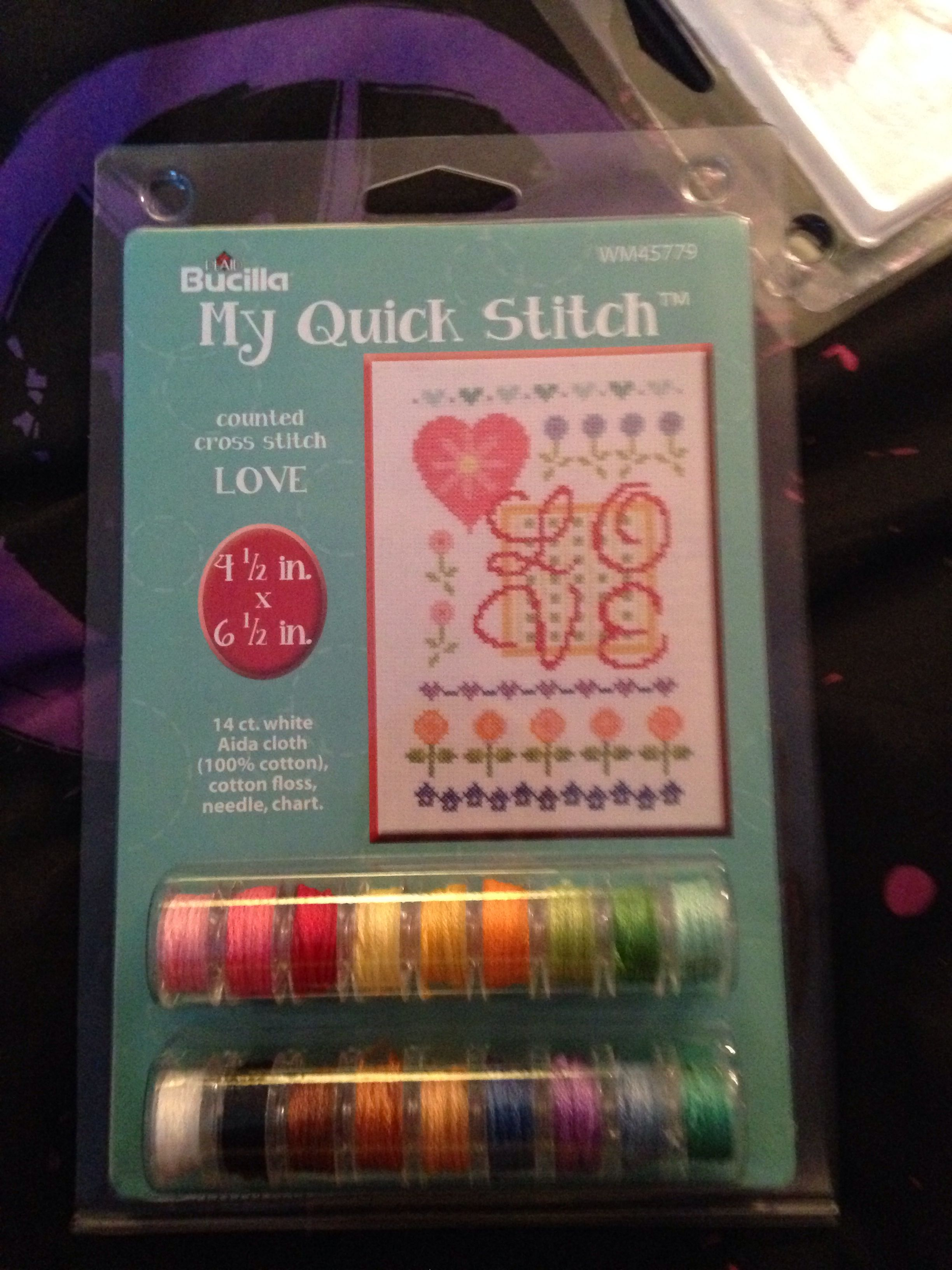 I found this at walmart it's good for beginners of cross stitch