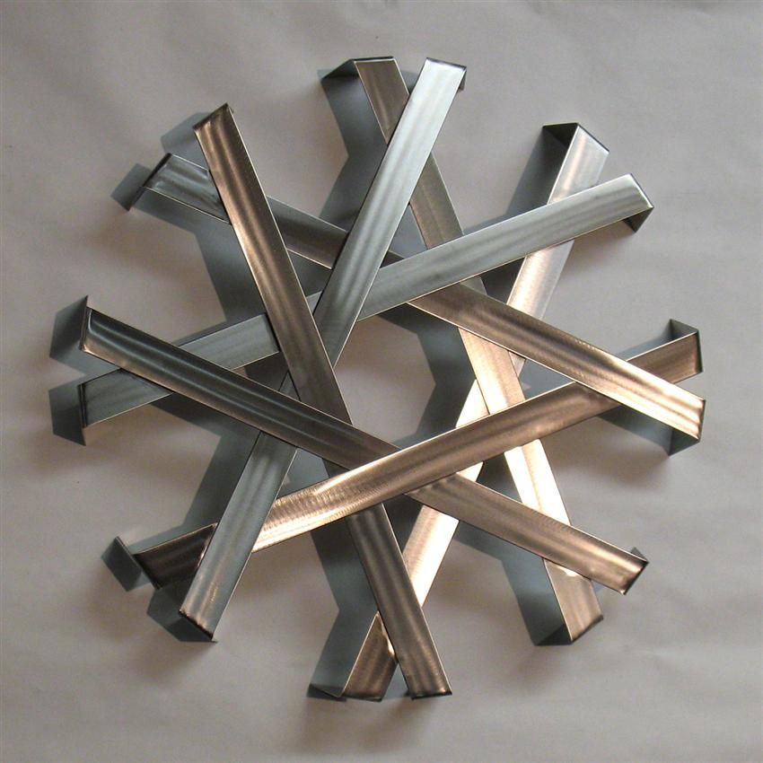 Abstract Metal Wall Art Sculpture   Stainless Steel