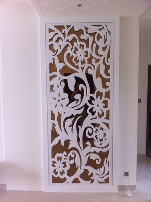 Pvc Wood Plastic Plate Partitions Carved Openwork Plate