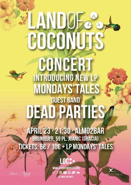 Land of Coconuts en concierto - Sala Almo2bar (Barcelona) 23 de Abril 2016
