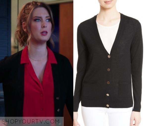 Great News: Season 1 Episode 6 Katie's Black Cardigan | Shop Your ...