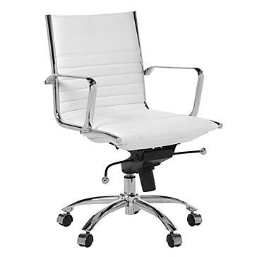 259 00 Z Gallerie Malcolm Office Chair White No Bar On The