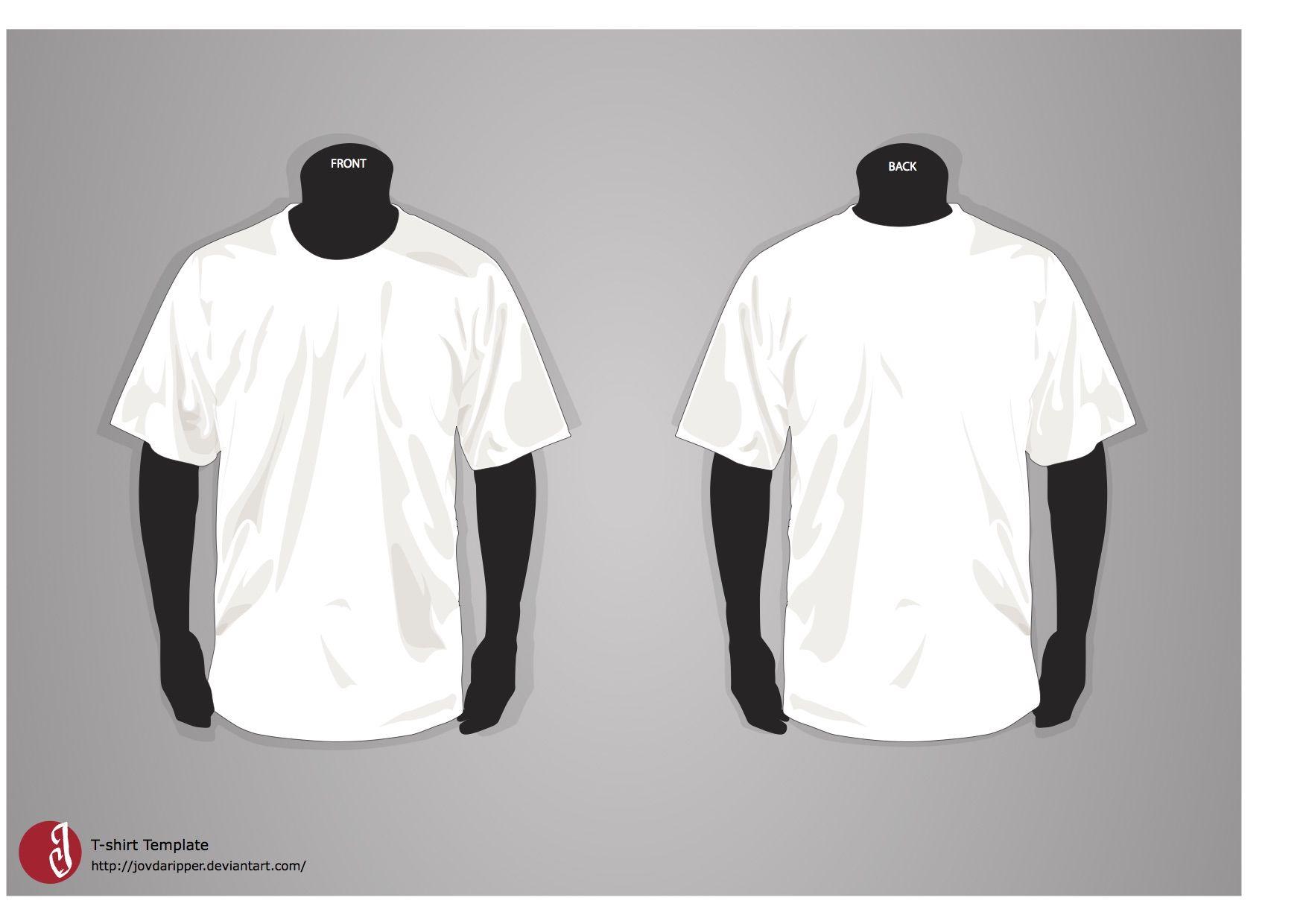 100 T Shirt Templates Vectors Psd Mockups Free Downloads Shirt Template T Shirt Design Template Fashion Design Template T shirt design template ai