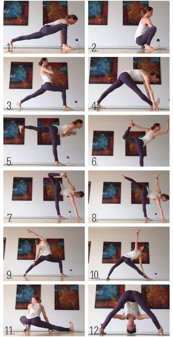 Yoga für Läufer, Hüften und Kniesehnen. - Yoga & Fitness #yogaypilates