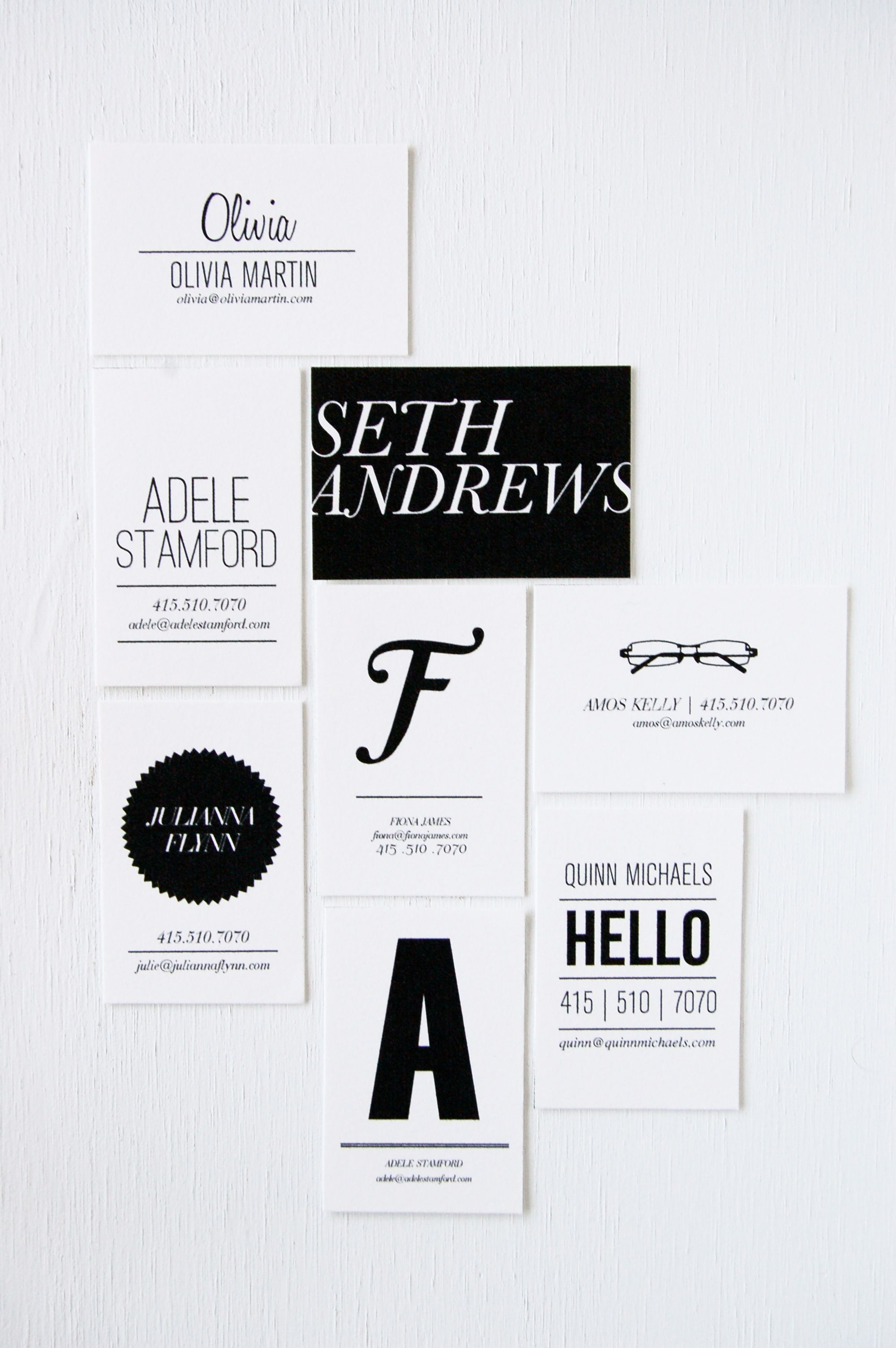 Business Cards via IN HAUS PRESS Letterpress studio | design | print ...