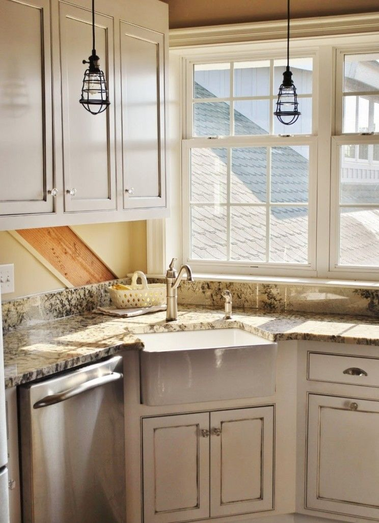 corner Farmhouse Sinks | ... corner farmhouse kitchen sink with ...