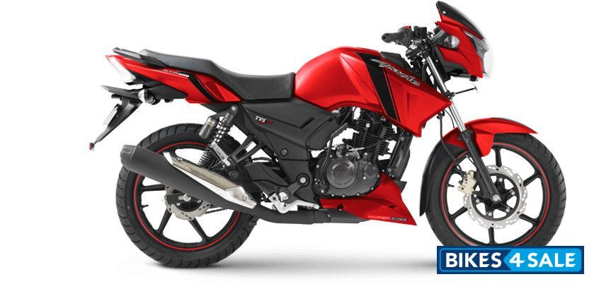 Matte Red  Pictures of TVS Apache RTR 160 Motorcycle  Photo