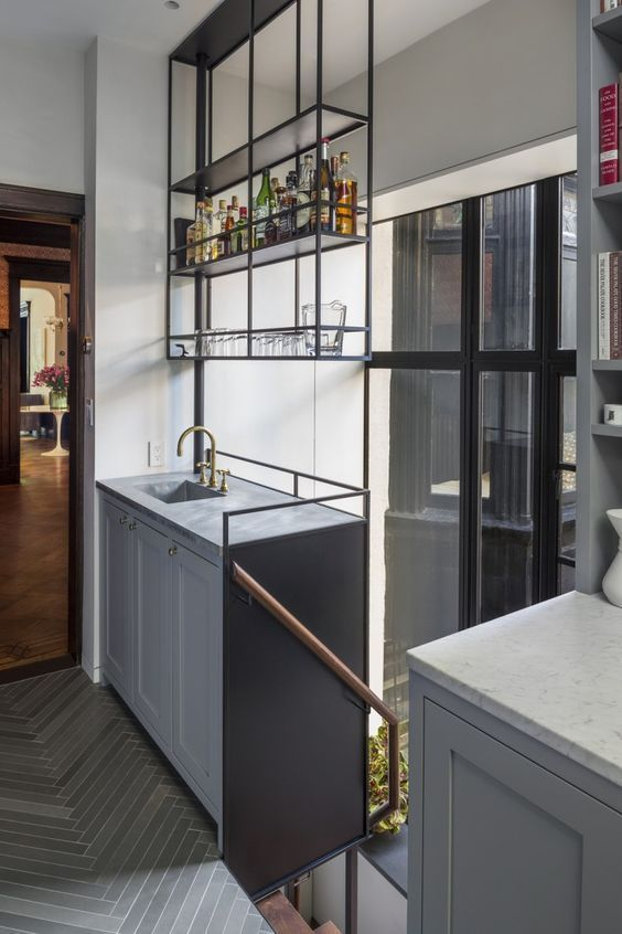 Elegant and luxurious design ideas for your home bar modern gray also rh pinterest