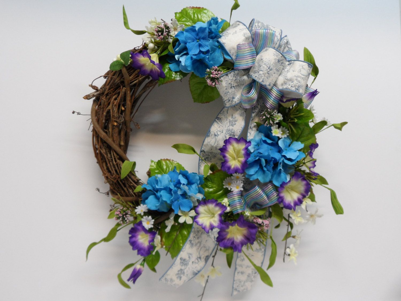 Grapevine Wreath, Hydrangea Grapevine Wreath, Spring Hydrangea Wreath,  Spring Front Door Wreath,