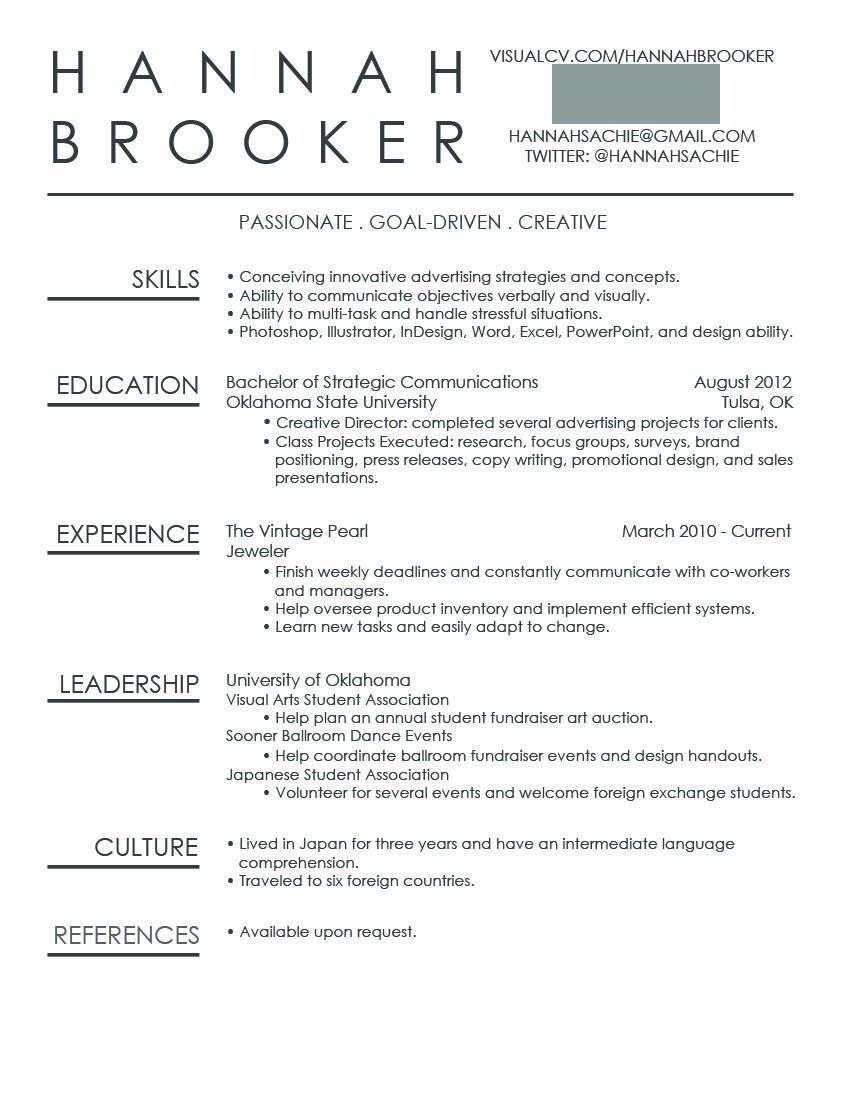 simple and unique resume idea