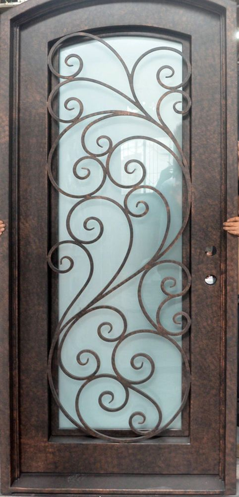 Hand Crafted 12 Gauge Wrought Iron Doors By Monarch Custom Doors 32 X 96 Wrought Iron Doors Iron Doors Wrought Iron Entry Doors