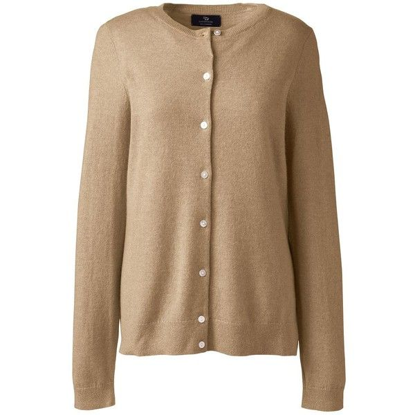 Lands' End Women's Cashmere Cardigan Sweater ($115) ❤ liked on ...