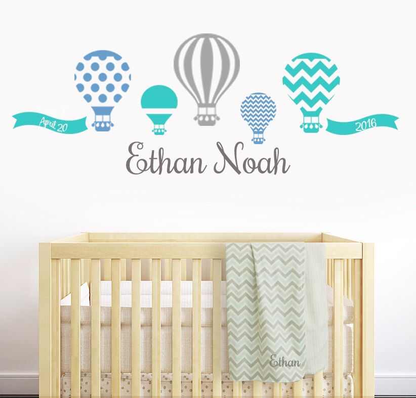 Hot Air Balloon Wall Decal Wall Decals For Boys Wall Decals Nursery Boys