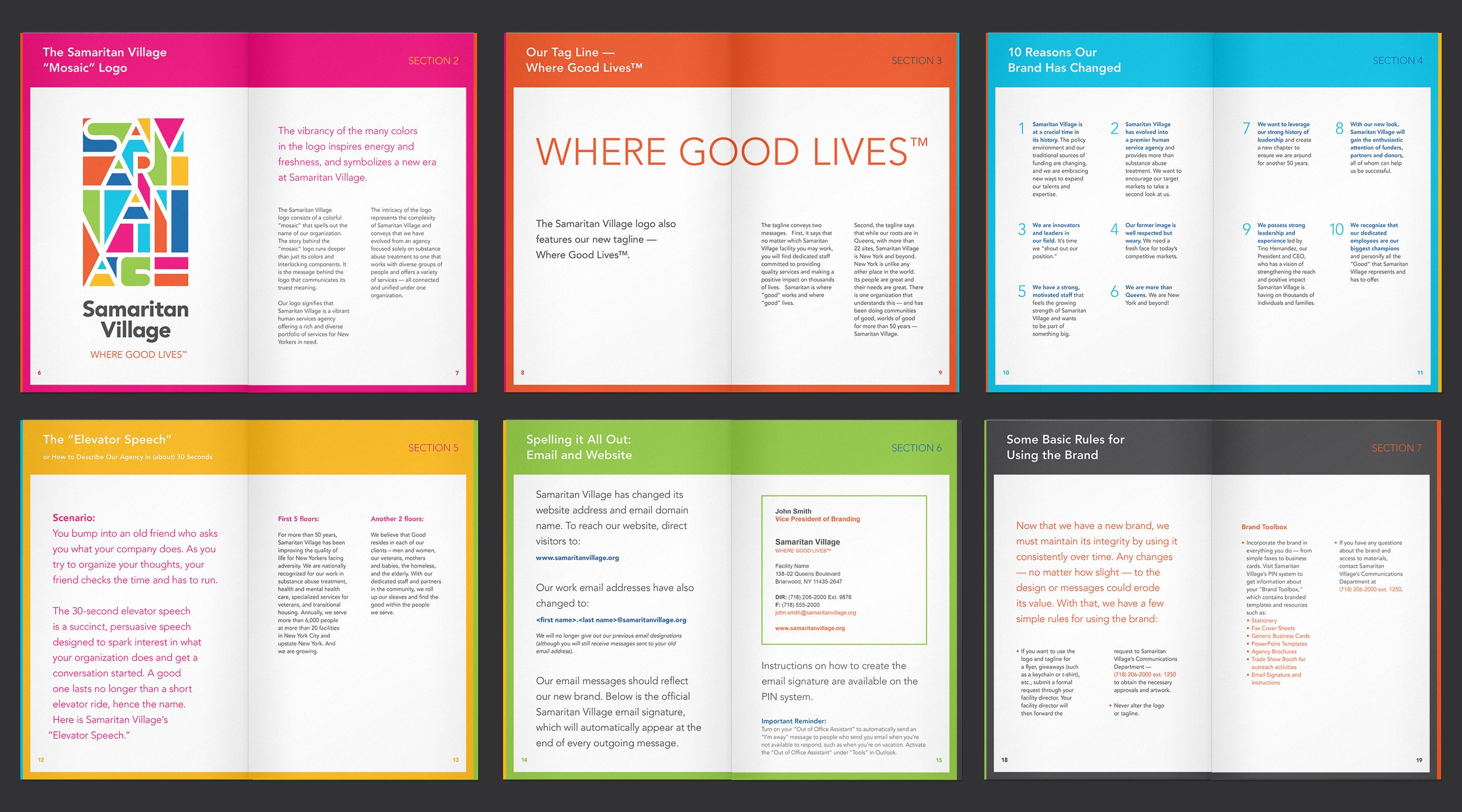 Colored sections employee handbook design pinterest for Employee handbook cover design template
