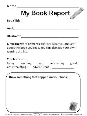 d480e38ab28986b369e760619fd06e7d - Kindergarten Book Report
