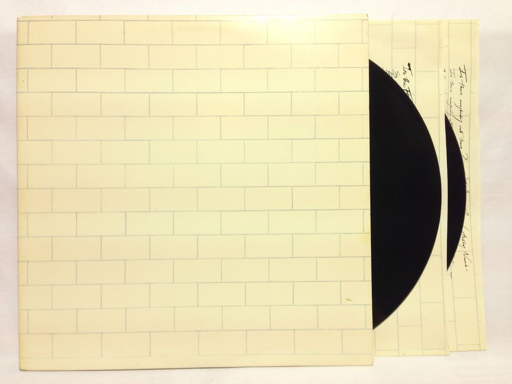 Details About Pink Floyd The Wall Lp 1979 Columbia Pc2 36183 Gatefold Inners