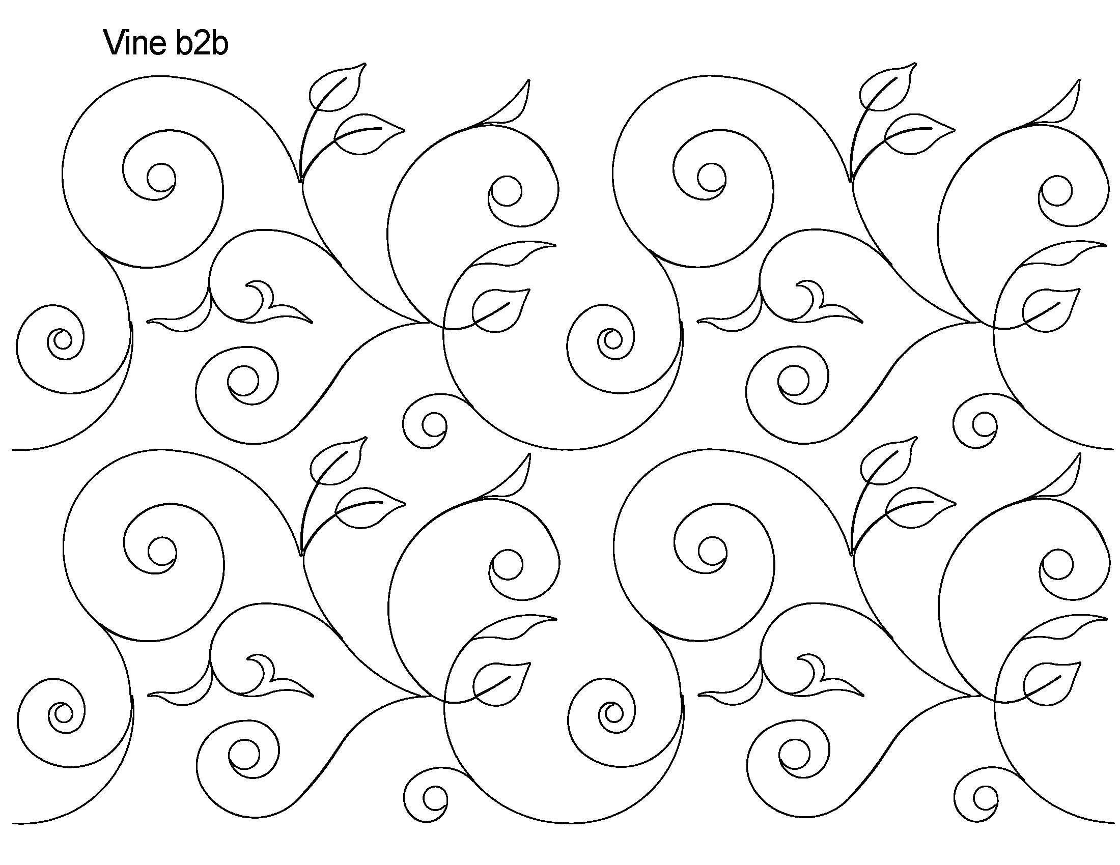 Long Arm Digital Quilting Designs : Vine b2b - Edge To Edge - Digital Quilting Designs - Edge to Edge Pinterest Vines, Free ...