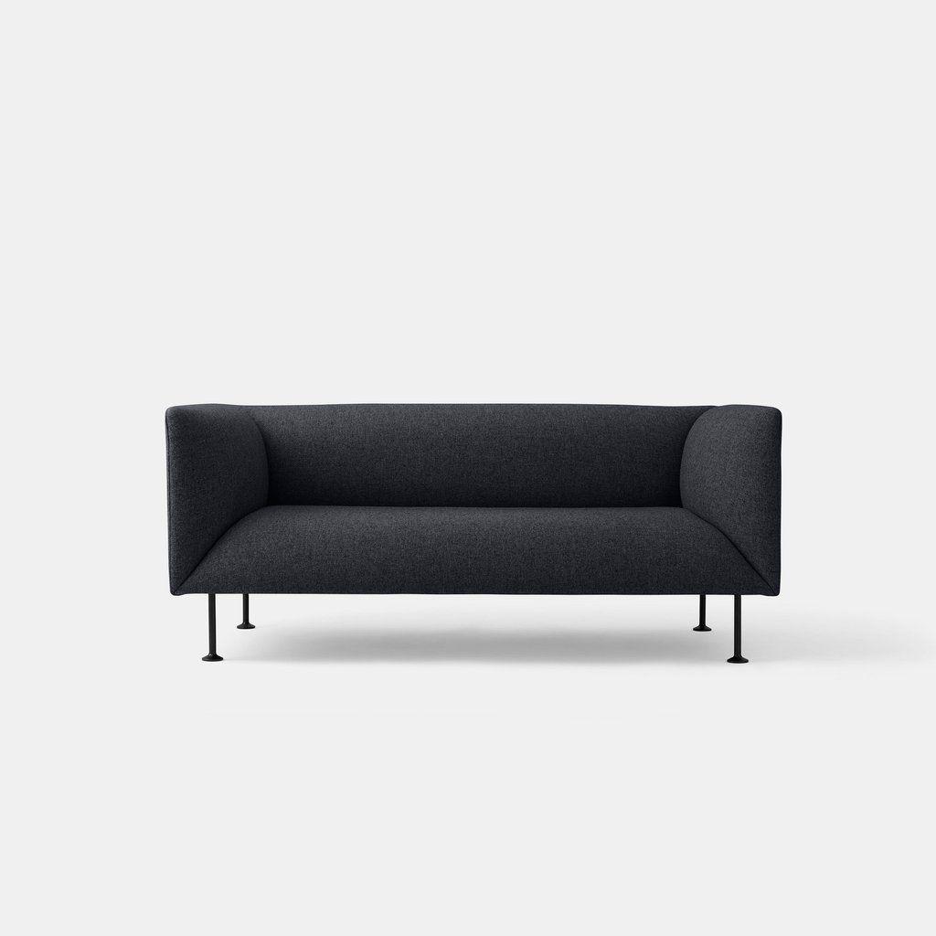 Godot sofa dark grey melange elegant sofa designed by iskos berlin godot is an inviting and elegant 2 seater sofa with parisarafo Choice Image