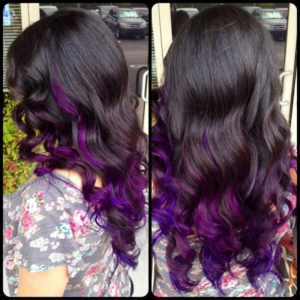 purple ombre vivid hair color ideas pinterest. Black Bedroom Furniture Sets. Home Design Ideas