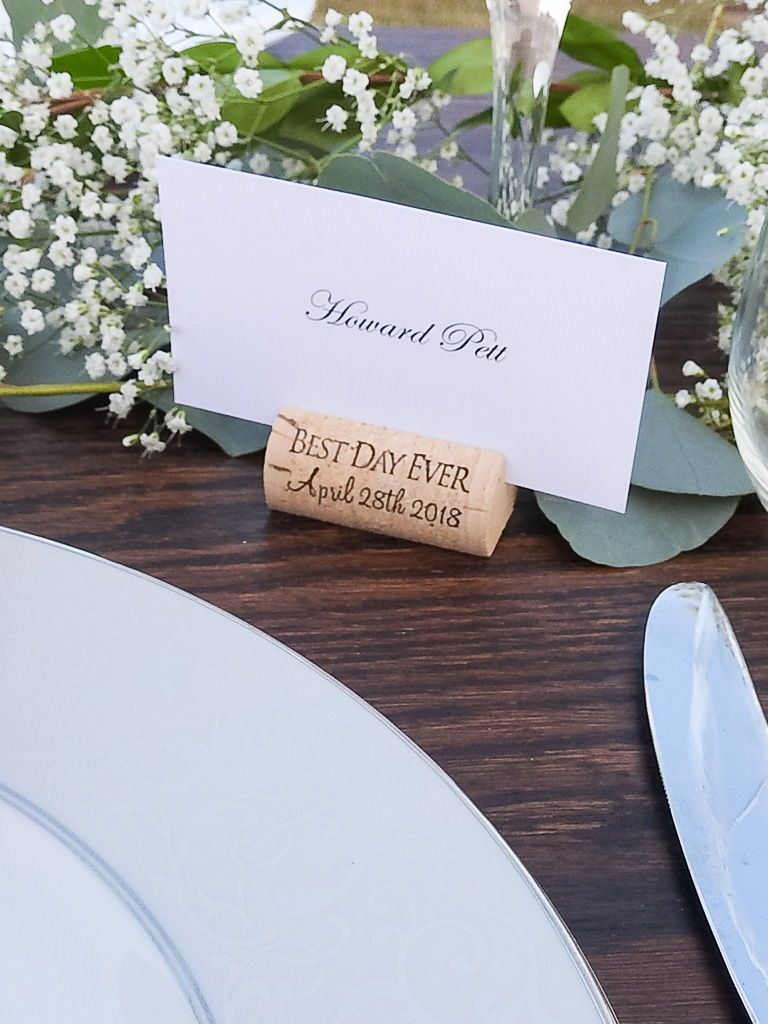 Wine Cork Place Card Holder Build Your Own Place Card Holders