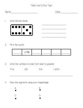 Everyday Math Unit 5 Pretest Everyday Math Math Second Grade Math