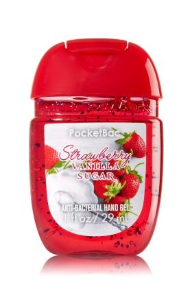 Bath Body Works Fresh Strawberries Anti Bacterial Hand Sanitizer
