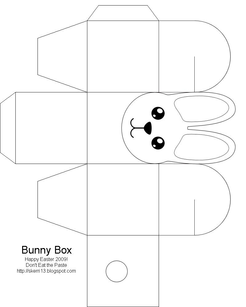Easter Box Easter Bunny , Easter Crafts For Kids, Free Box Templates To  Print For Gift Boxes