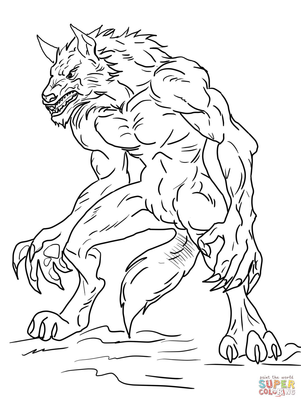 Ben 10 Alien Force Swampfire Coloring Page Free Printable Coloring Pages Animal Coloring Pages Cartoon Coloring Pages Werewolf