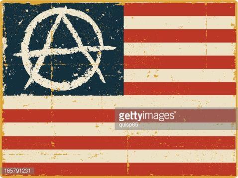 American Flag With Anarchy Symbol Anarchy Symbol Dark Fantasy Art Anarchy