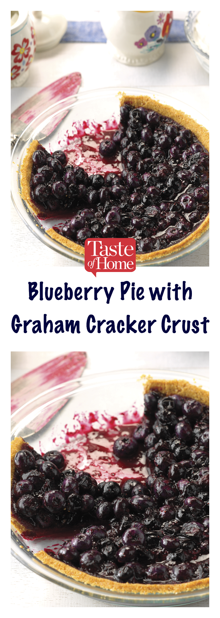 Blueberry Pie with Graham Cracker Crust #homemadegrahamcrackercrust