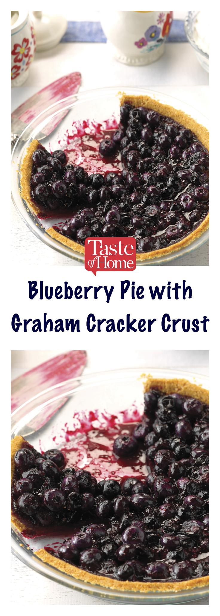 Blueberry Pie with Graham Cracker Crust #homemadegrahamcrackercrust