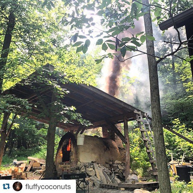 Repost @fluffycoconuts with @repostapp.  Time to inform the fire department this by woodfiredpotterykilns