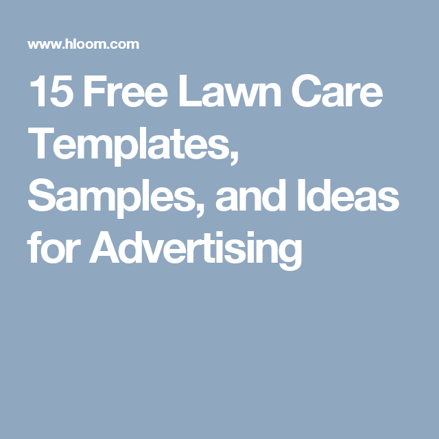 15 free lawn care templates samples and ideas for advertising