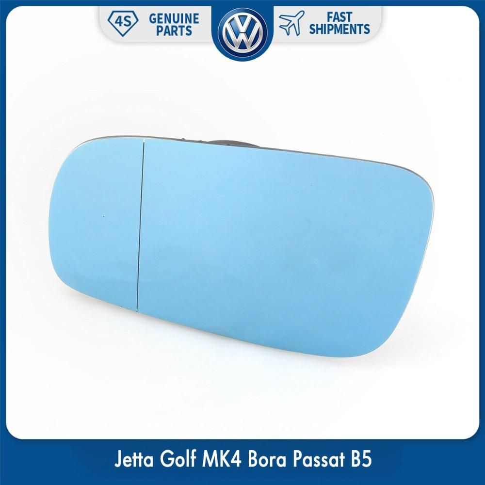 Blue Tinted Heated Wing Left Side Mirror Glass For Vw Volkswagen