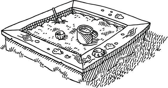 Картинка песочница раскраска