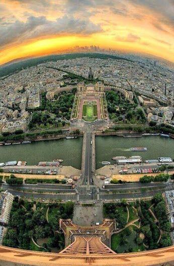 Google+ Vista de Paris desde la Torre Eiffel..bellisimooo