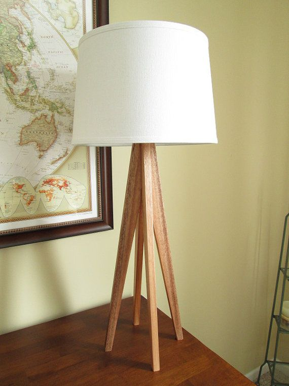 Tapered Leg Lamp In Mahogany Wood By Waldenwooddesigns