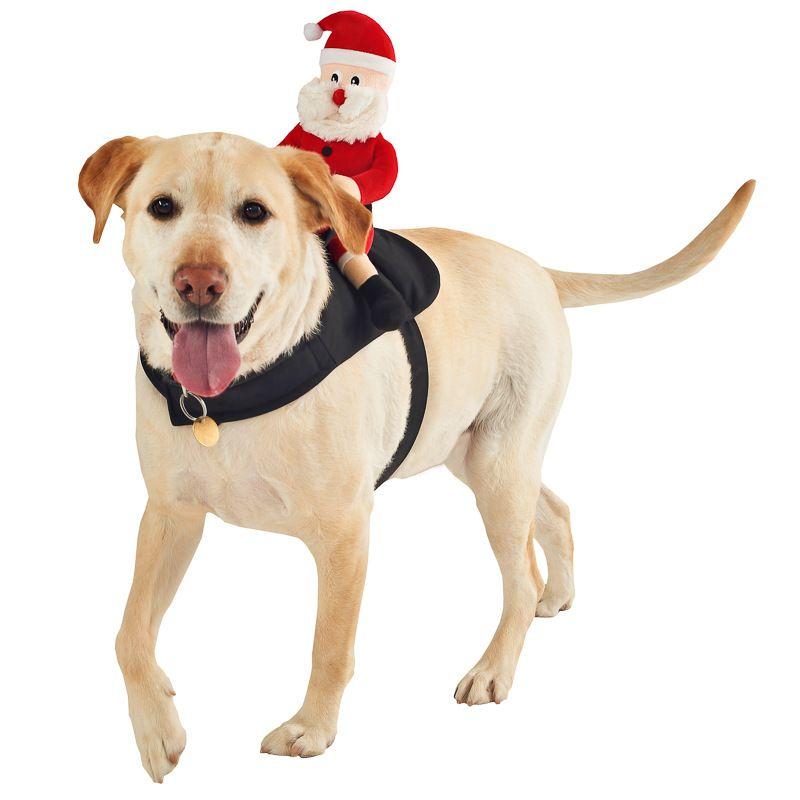 303898 Ride On Christmas Dog Toy Santa Christmas Dog Costume
