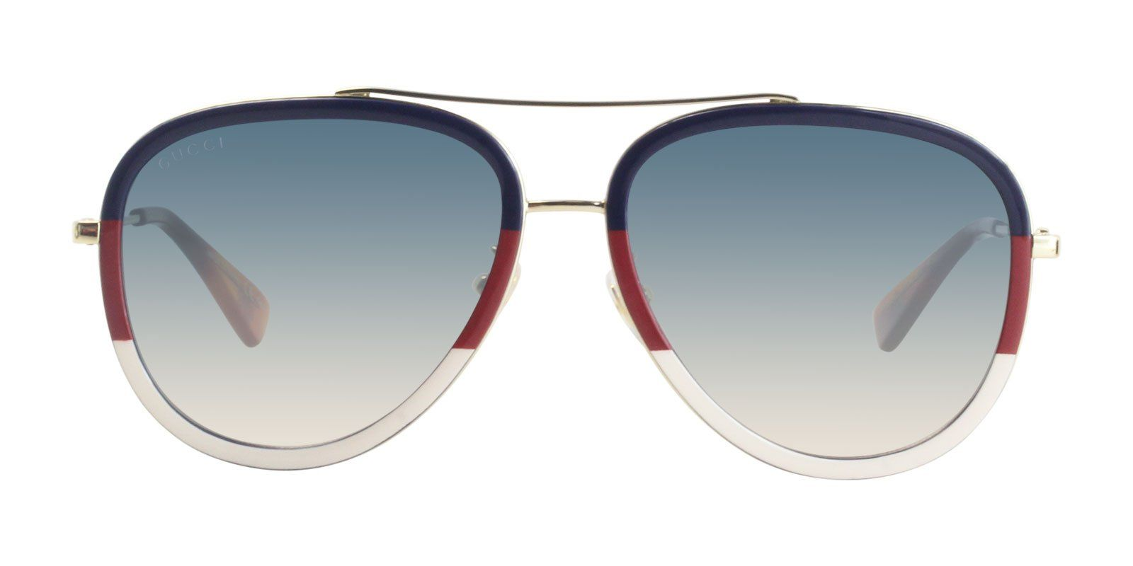 b5411b3b8a43 Gucci GG0062S Blue Red White / Blue Lens Sunglasses   Products   Red ...