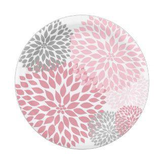 Pink Gray Dahlia Baby Shower / Bridal shower plate 7 Inch Paper Plate  sc 1 st  Pinterest & Pink Gray Dahlia Baby Shower / Bridal shower plate 7 Inch Paper ...