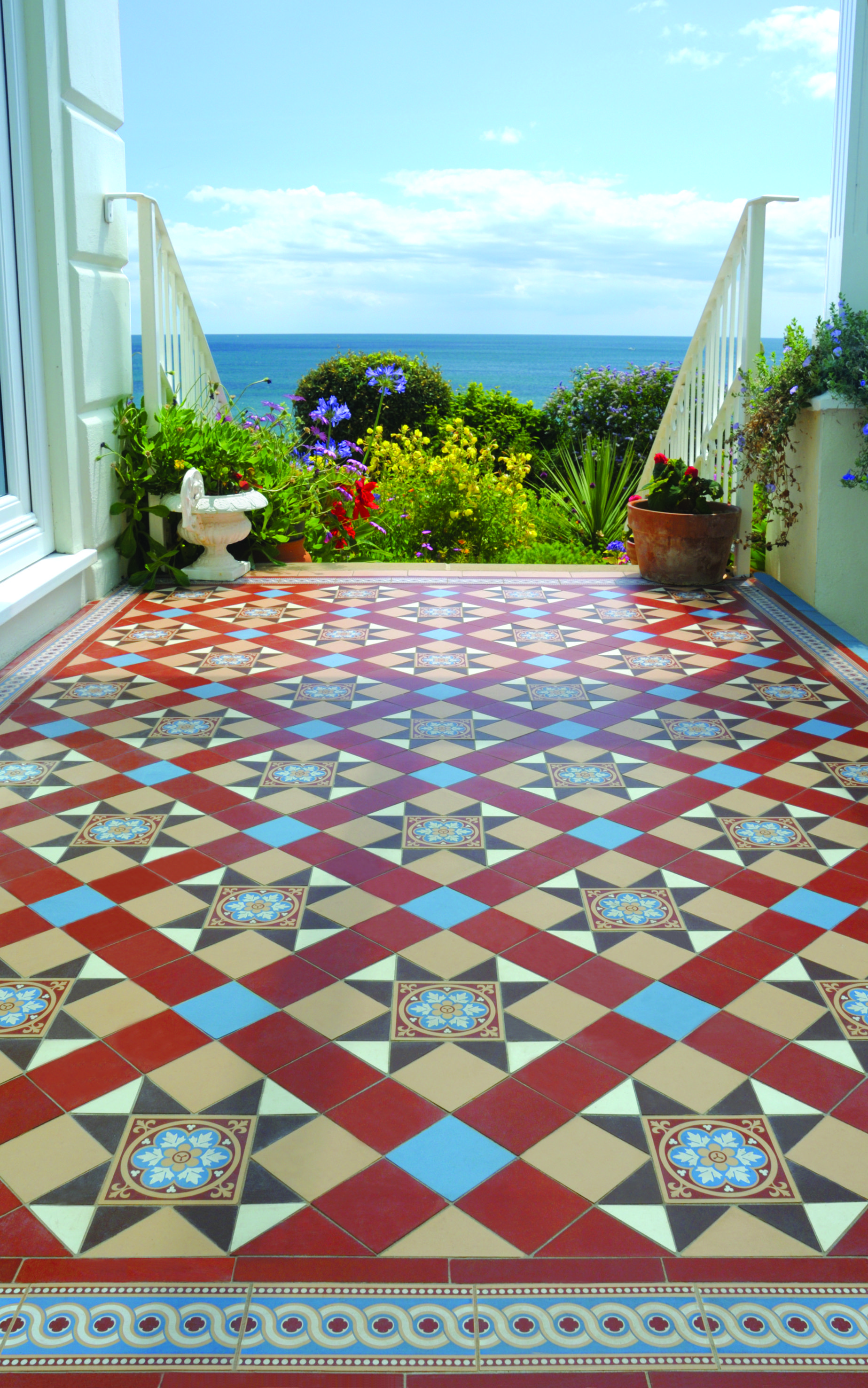 Victorian floor tiles tiny porchhallway pinterest victorian original style tiles tile manufacturer and supplier dailygadgetfo Images