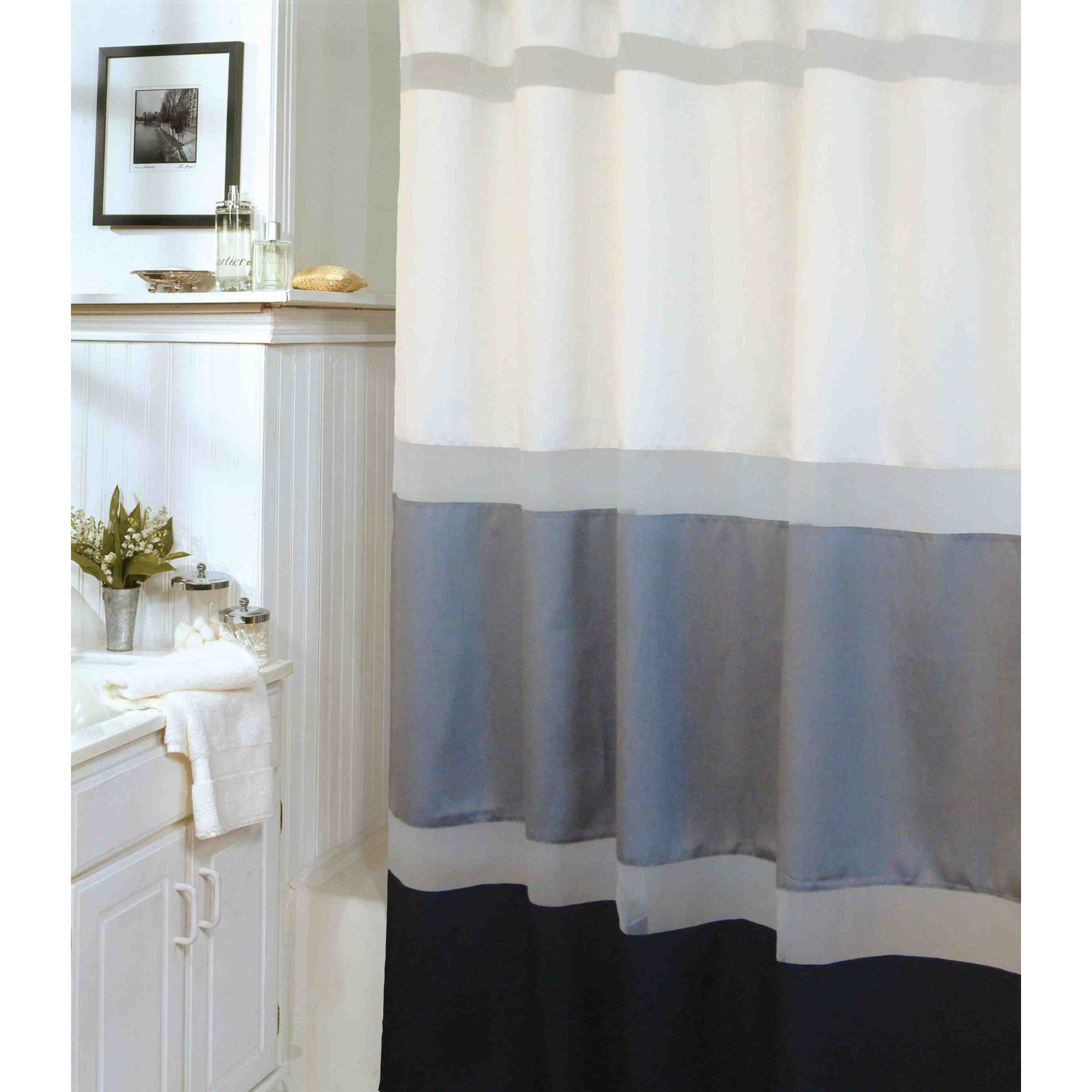 I love this shower curtain | Guest Bathroom | Pinterest | Pewter