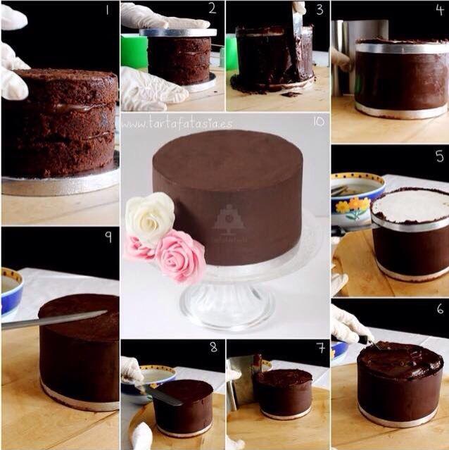 Pour Faire De Beaux Angles Sur Gateau Gateau Patisserie Cake Design